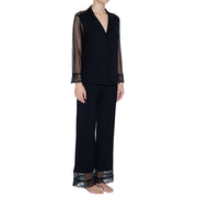 Eberjey Pant & Long-Sleeve PJ Set PJ1922 Black