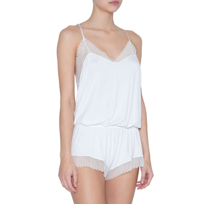 Eberjey Phoebe Show Off Teddy D1909r Ivory Romper
