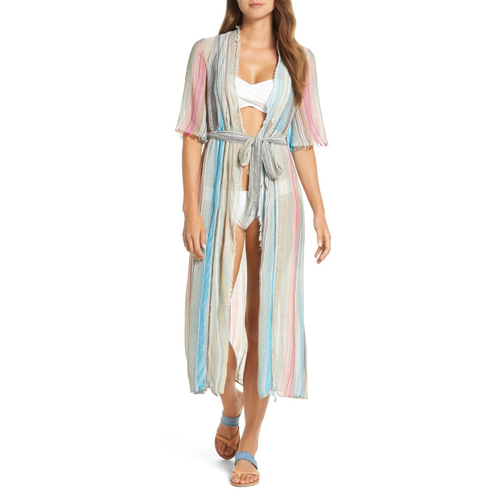 ffbe6038c6 Share Share on Facebook Pin it Pin on Pinterest. Elan Tie Front Cover-Up  Dress Wcs6031 Multi