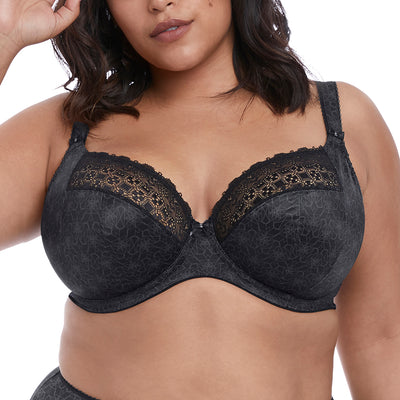 Elomi Km Stretch Lace Plunge Bra EL4340 Black