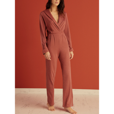 Else Ella Wool Blend Jumpsuit EC-459-P Rosewood