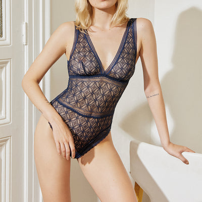 Else Chloe Bodysuit EC-389C Deep Blue