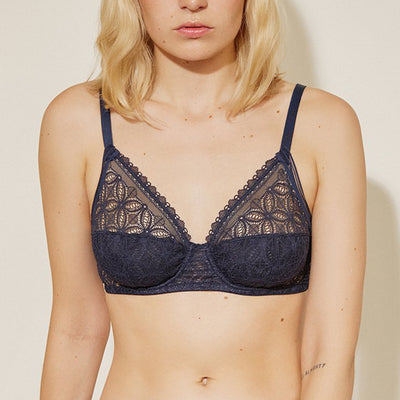 Else Chloe High Apex Underwire Full Cup Bra EC-390B Deep Blue