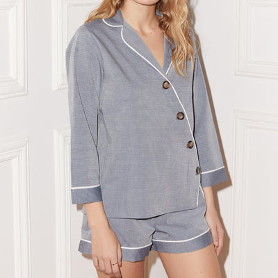 Else Victoria PJ Short Set Ec-424S Grey