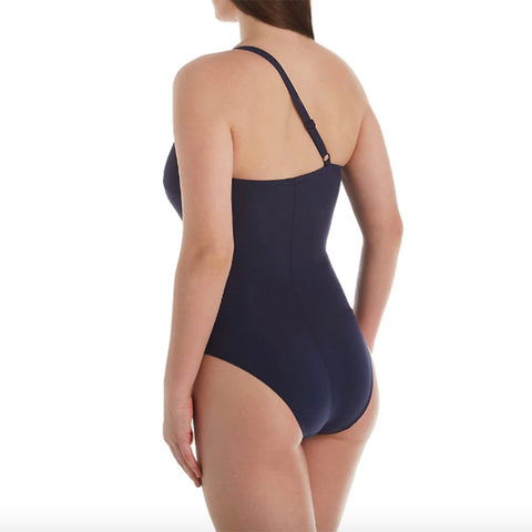 Empreinte Escale One Shoulder One Piece Swimsuit PW-ESC Navy