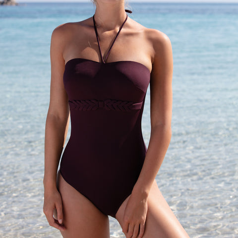 Empreinte Curl Royal One Piece Swimsuit Curl PW-192 Purple