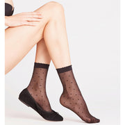 Falke Anklet Dot Thin Socks 41452 Black