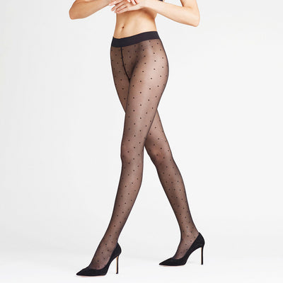 Falke Dot 15 DEN Sheer Dot Tights 40685 Black