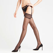 Falke Seidenglatt 15 DEN  Stockings 41519 Black