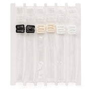 Fashion Forms Assorted Invisible Bra Straps - 3 Pack 5540 Clear Straps