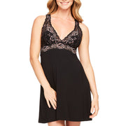 FLEUR'T Evening Dreams Lace-Bust Chemise 5501 Black/Pink