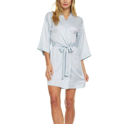 Flora Nikrooz Victoria Charmeuse Robe Q80898 Light Blue