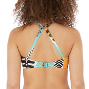Freya Bassline High Apex Bikini Top With J Hook AS7050 Multi