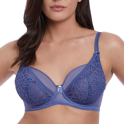 Freya Soiree Lace High Apex Balcony Bra Aa5011 Denim