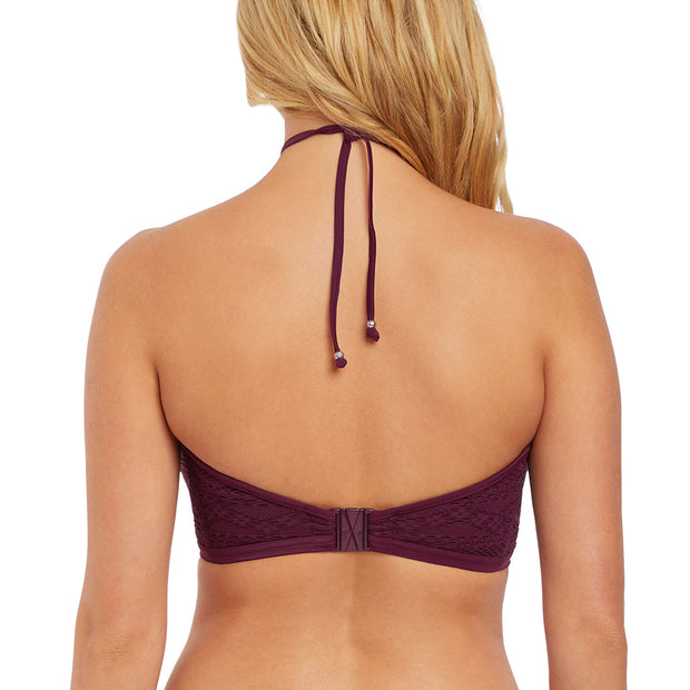 Freya Swim Sundance High Neck Crop Top AS3973 Black Cherry
