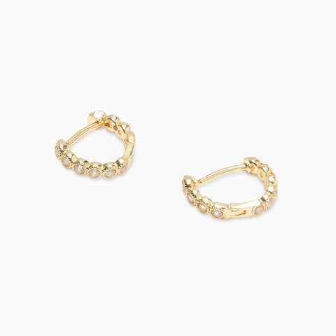 Gorjana Jewelry Madison Shimmer Huggie Earrings