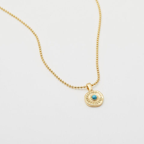 Gorjana Cruz Coin Necklace