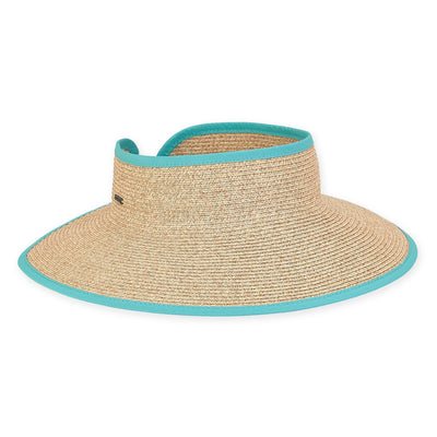 Sun 'N' Sand Roll Up Visor HH2352 Blue
