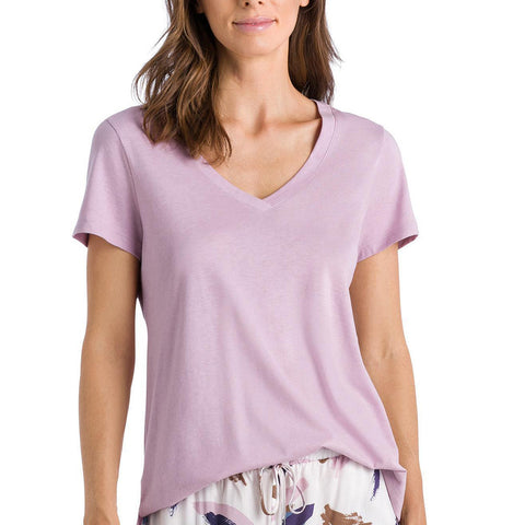 Hanro Sleep and Lounge Short Sleeve Shirt 77876 Spring T-Shirt