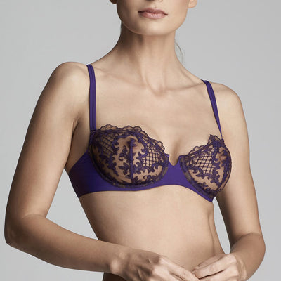 ID Sarrieri Endless Night Balconnet Bra C7327 Plum
