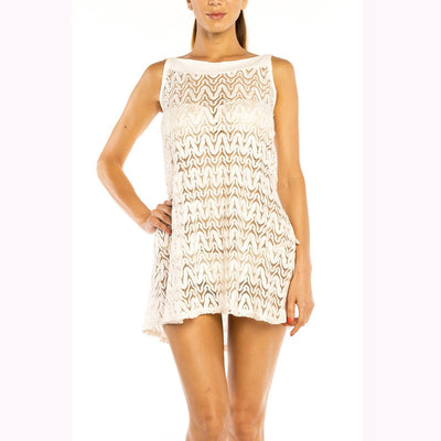 Jordan Taylor Bateau Neck Dress LH-17029 Cream