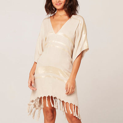 LSpace Seaport Cover-Up Kaftan Seacv20 Cream