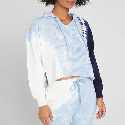 LSpace South Swell Tie Dye Pullover Hoodie Sospo21 Blue