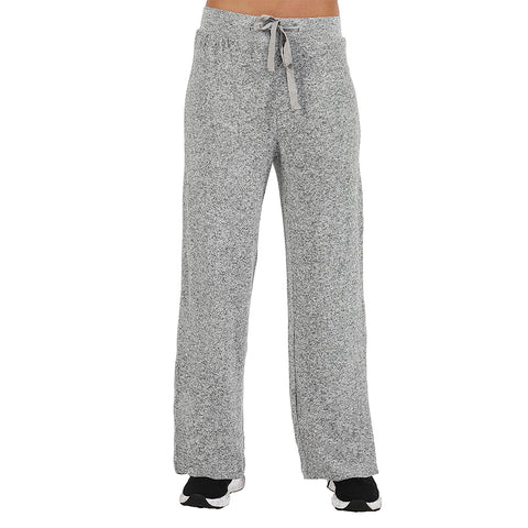 La Cera The Comfort Collection Plus Size Wide Leg Pants 7573X Heather Grey