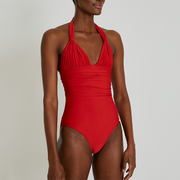 Lenny Niemeyer Adjustable Halter One Piece Swimsuit 246 Coral