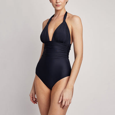Lenny Niemeyer Adjustable Halter One Piece Swimsuit 246 Black
