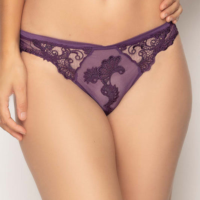 Lise Charmel Dressing Floral Thong ACC0088 Purple
