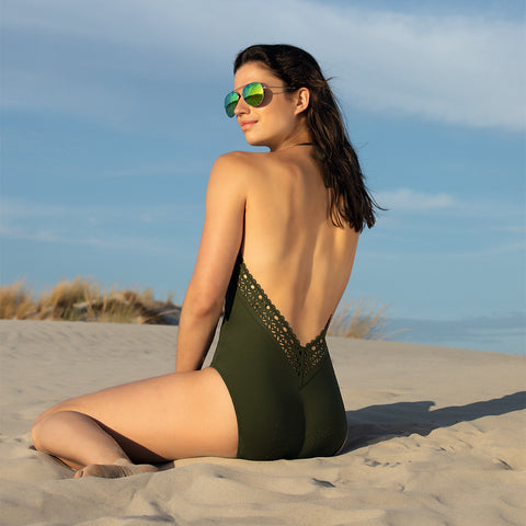 Lise Charmel Ajourage Couture Plunging Back & Front Swimsuit ABA9615