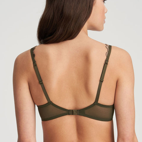 Marie Jo Phoebe Underwire Heart Shaped Bra 010-2456 Olive