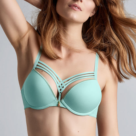 Marlies Dame de Paris Plunge Bra 19-2611 Tiffany Blue
