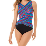 Miraclesuit Carnivale Brio Underwire One Piece Swimsuit 6524653 Multi