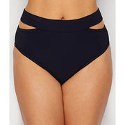 Miss Mandalay Icon Split High Waisted Bikini Bottom IC10BSS Black