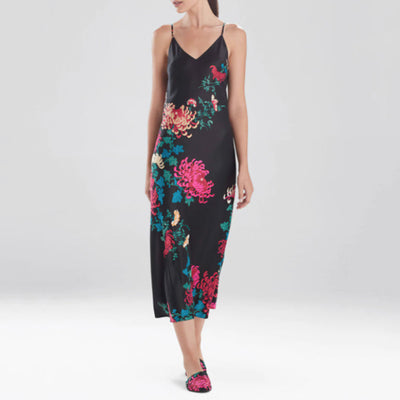 Natori Sleep Chrysanthemum Gown L73034 Black
