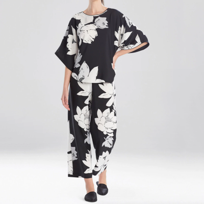Natori Sleep Lotus Pullover Sleeve PJ M76105 Black