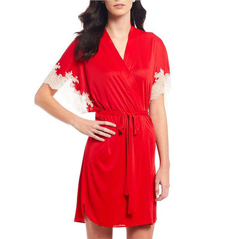 Natori Enchant Wrap Robe H74012 Crimson