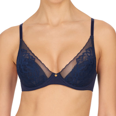 Natori Flora Contour Underwire Bra 721150 Dark Night