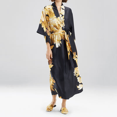 Natori Opulent Robe H74015 Black/Gold