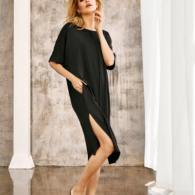 Oh! Zuza Gown with Pockets Oz-205 Black