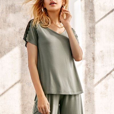 Oh! Zuza Loungewear Blouse Oz-211 Blt Green