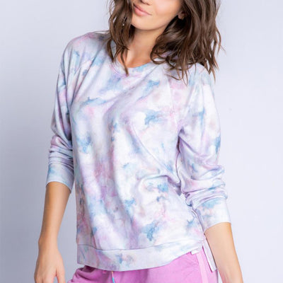 PJ Salvage Marble Vibe Long Sleeve RXMVLS Sweatshirt