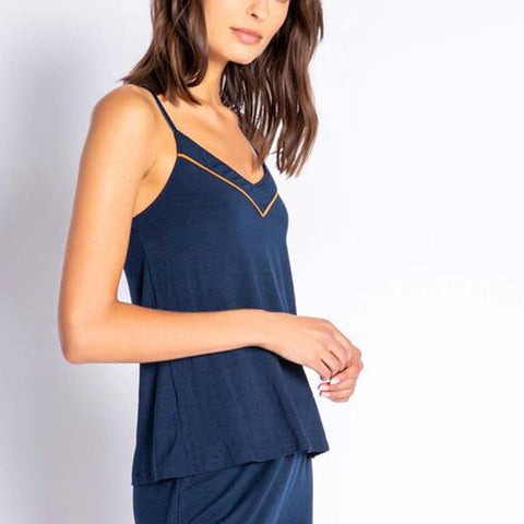 PJ Salvage Modal Cami Top Rumoc Navy
