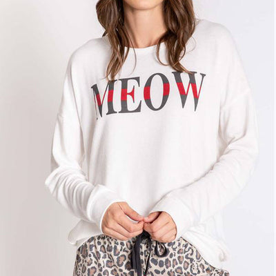 PJ Salvage Wild Heart Long Sleeve Top RPWHLS3 Meow