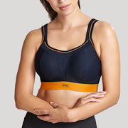 Panache Wireless Sports Bra 7341 Navy/Orange