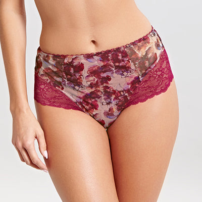 Panache Jasmine Deep Brief Panty 6954 Autumn Floral