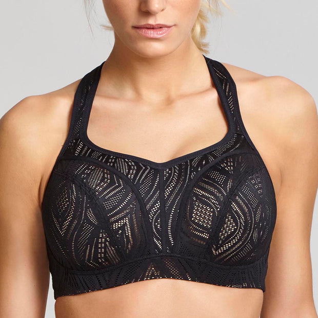 aaca39402e531 Panache Underwire Sports Bra 5021 Black Latte
