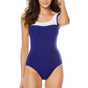 Paula Swordfish One Piece Swimsuit 13001 Deep Blue/White
